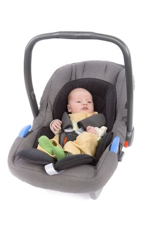 drive safely: newborn (3 weeks old) boy in the Child Car Seat