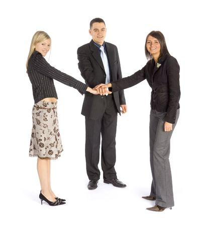 A group of business people motivate themselfs Stock Photo - 757010
