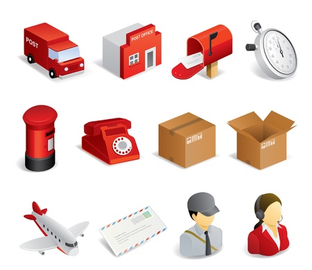 Courier service related icons Stock Vector - 20563092