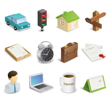 Dairy life related icons Illustration