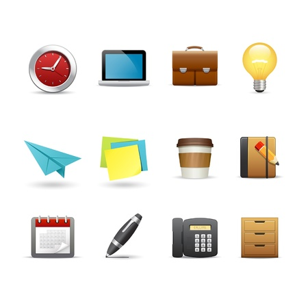 drawers: Office related icons