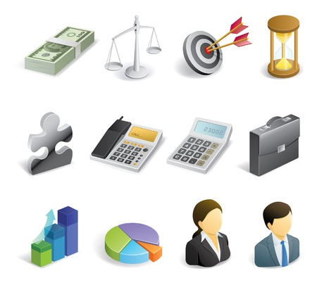 Business and finance related icons Stock Vector - 20563097