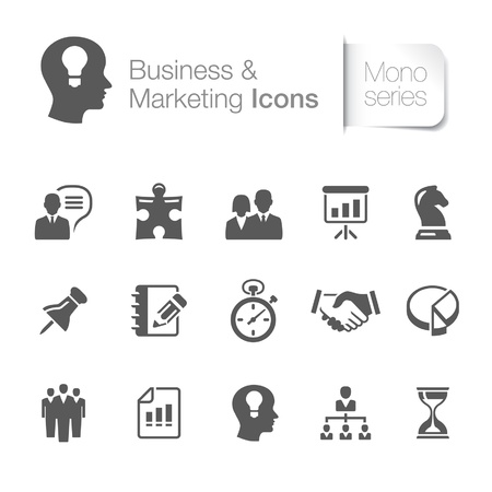 Business and marketing related icons Vector