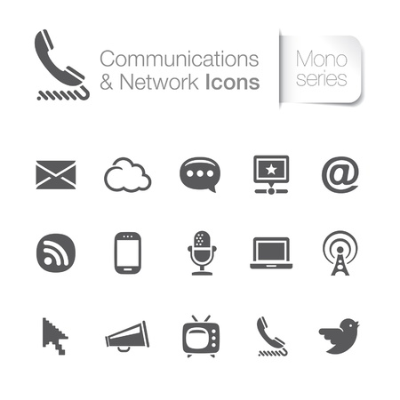 Communication and network related icons