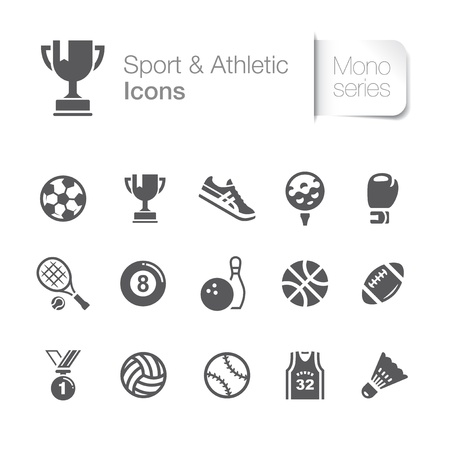 Sport   athletic related icons Vector