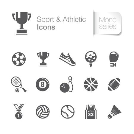 Sport atletische bijbehorende pictogrammen Stock Illustratie