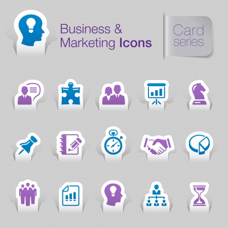 Business   marketing related icons Stock Vector - 21036415