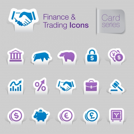 Finance   trading related icons Stock Vector - 21036424