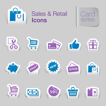 Sales   retail related icons Stock Vector - 21036425
