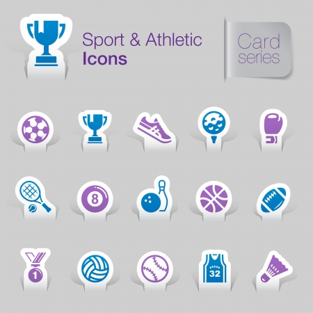 Sport   athletic related icons Stock Vector - 21036426