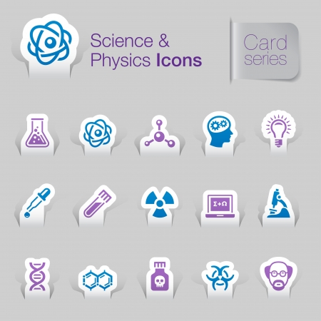 Science   physics related icons Vector