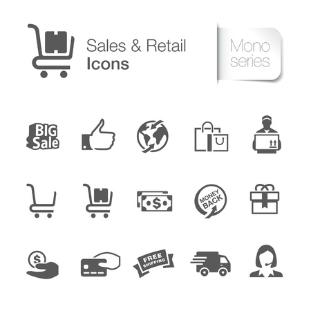 Sales   retail related icons Stock Vector - 22127863