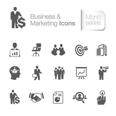 Icônes d'affaires liées à la commercialisation