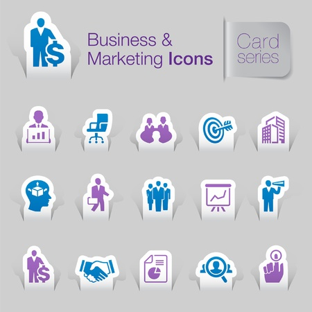 wealth management: Business   marketing related icons