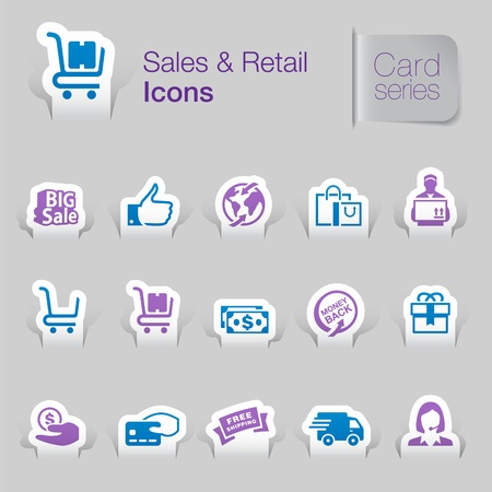 Sales   retail related icons   Vector