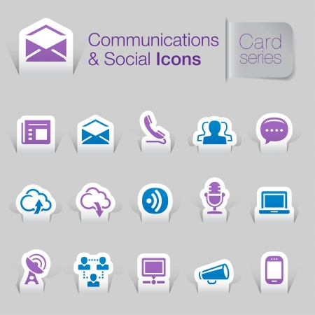 Communications   networks related icons Illustration