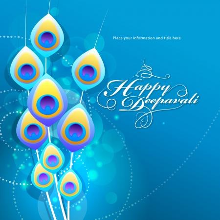 plumas de pavo real: Diwali festival de dise�o gr�fico