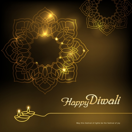 Diwali graphic design  Come with layers   Vector