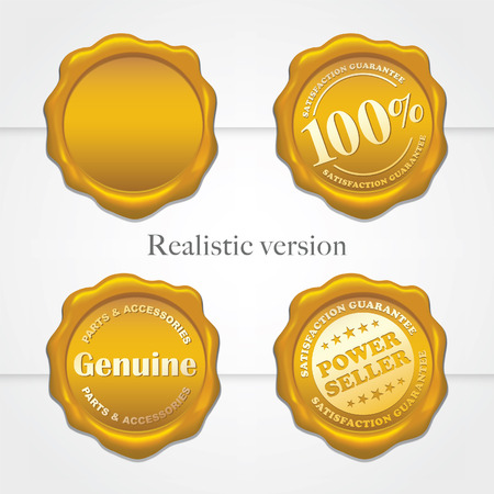 Old wax stamps - Realistic gradient mesh version Vector
