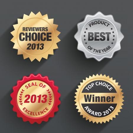 excellence: Award seal sets Illustration
