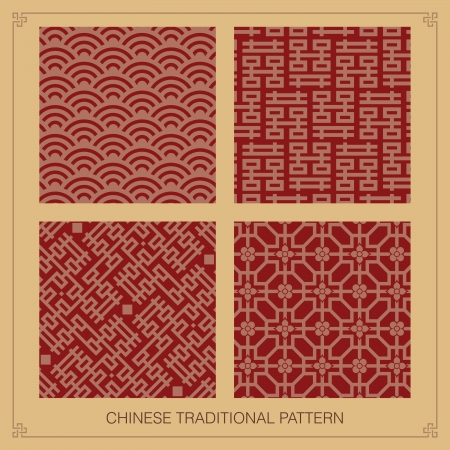 korean traditional: Traditional chinese pattern Illustration