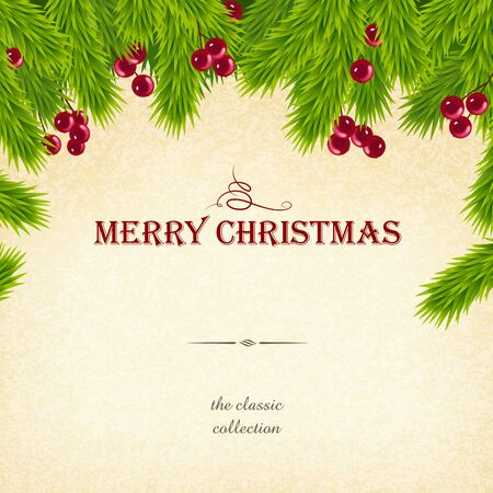 western script: Christmas graphic design  come with layers  Illustration