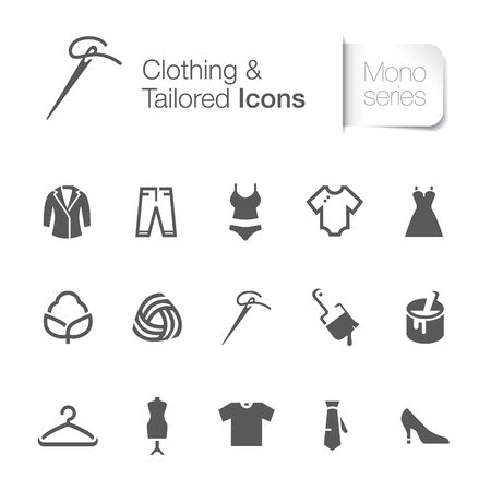 Clothing related icons  Vector