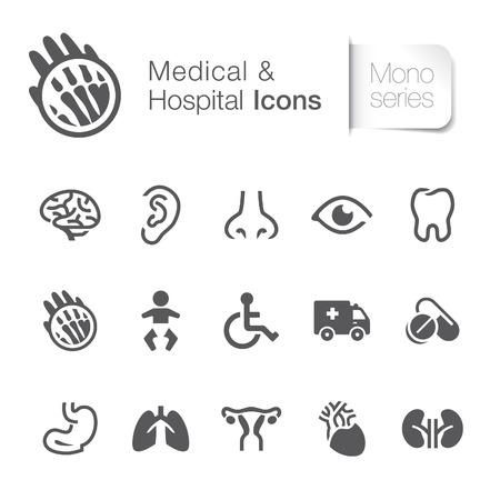 ovario: Iconos relacionados con el hospital Médico