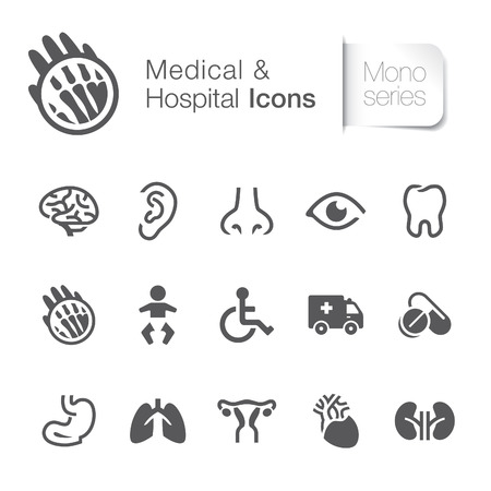 ears: Medical   hospital related icons  Illustration