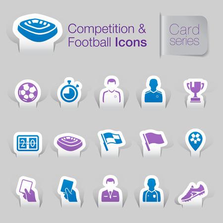 yarışma: Rekabet futbolla ilgili simgeler Çizim