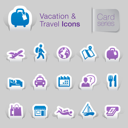 Vacation   travel related icons  Illustration