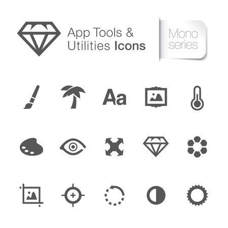 Application tool   utilities related icons   Vector