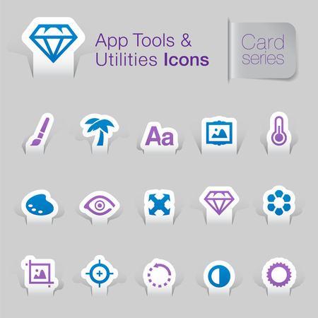 Application tool   utilities related icons