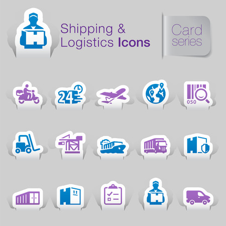 courier service: Shipping   logistics related icons   Illustration