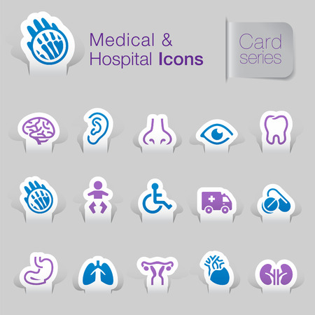 Medical   hospital related icons   Vector