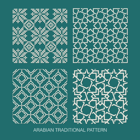 ornaments vector: Traditional Arabian pattern