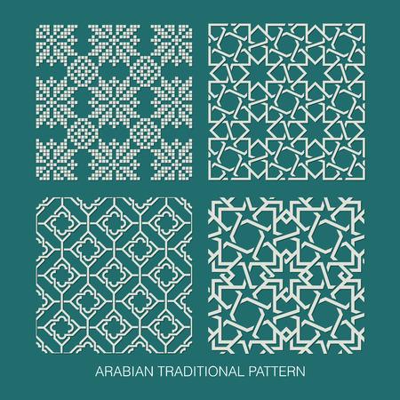 Traditionele Arabische patroon Stock Illustratie