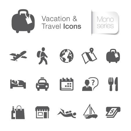guia turistica: Iconos relacionados con los viajes de vacaciones