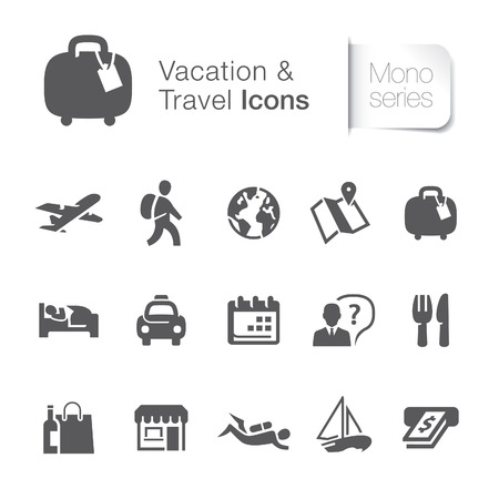 Vacation   travel related icons