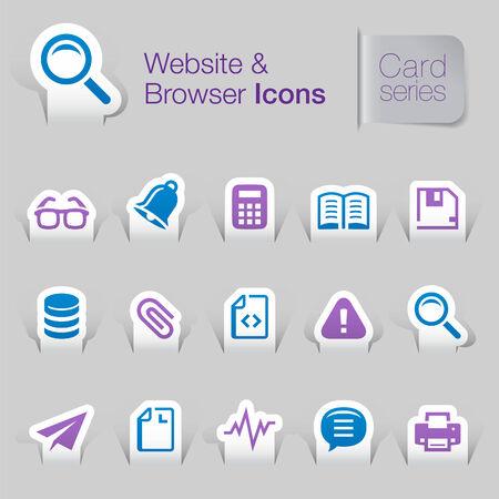 Website related icons mono