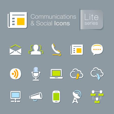 Communications   social icons Illustration