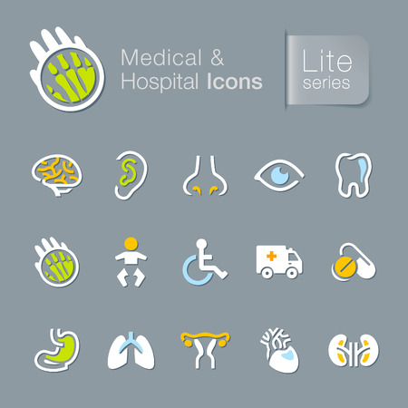 pediatrics: Medical   hospital related icons  Illustration