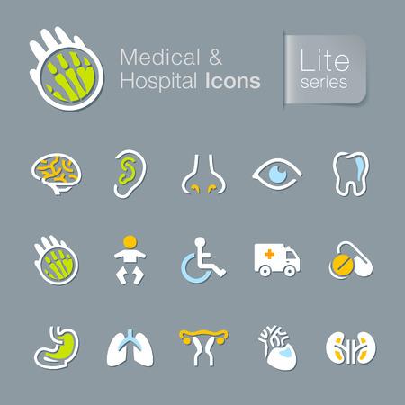 Medical   hospital related icons  Illustration