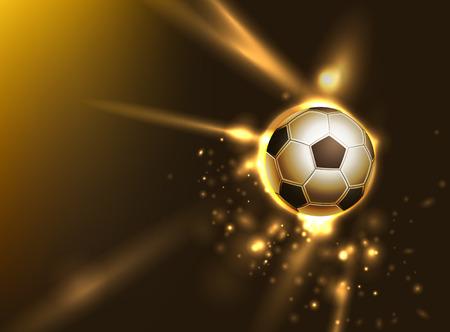 劇的なサッカー グラフィック背景レイヤーが付属します。