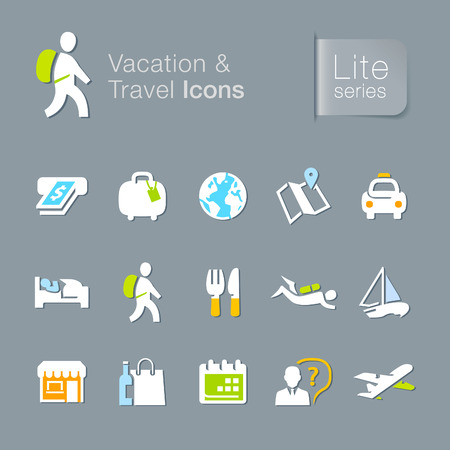 Vacation   travel related icons  Vector