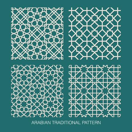 рамадан: Традиционный арабский узор Иллюстрация