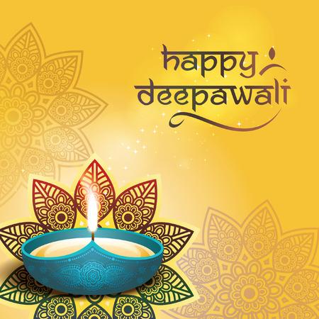 Deepawali grafisch ontwerp Stock Illustratie