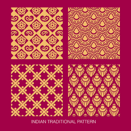 Indian pattern collection.  Vector
