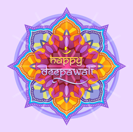 grafisch ontwerp: Deepawali grafisch ontwerp Stock Illustratie