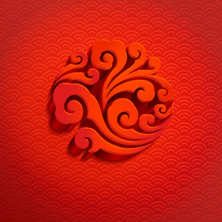 cloud background: Chinese new year background
